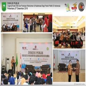 """KPK Dan Universitas Riau Taja Diskusi Publik """"Politik Berintegritas"""